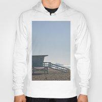 santa monica Hoodies featuring Santa Monica Beach by Danny T
