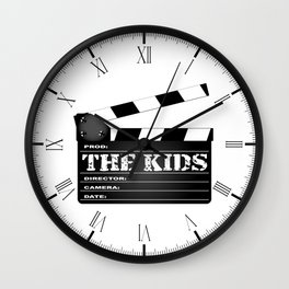 The Kids Clapperboard Wall Clock