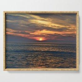Rehoboth Beach sunrise Serving Tray