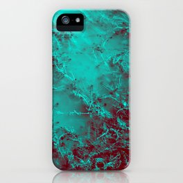 Under the Sea | Teal + Red iPhone Case