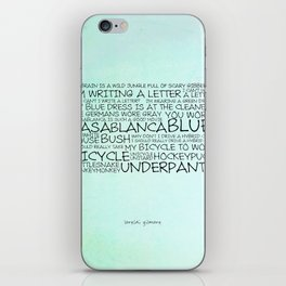 My brain is a wild jungle full of scary gibberish iPhone Skin