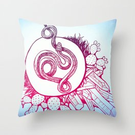 Snake Spirit Throw Pillow
