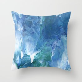 Blue Thunder by Julia Duerler Throw Pillow