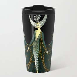 "Art Deco Design ""Queen of the Night"" by Erté Travel Mug"
