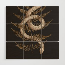 The Snake and Fern Wood Wall Art