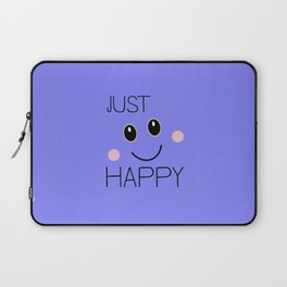 Just Happy Smiley Laptop Sleeve