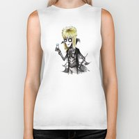 tim burton Biker Tanks featuring Burton Labyrinth by Ludwig Van Bacon