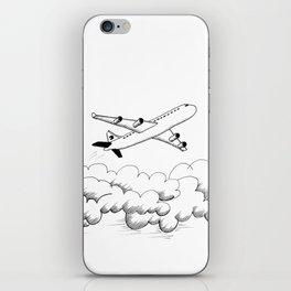 Airplane taking off iPhone Skin