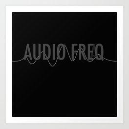 Audio Freq Art Print