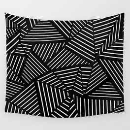 Ab Linear Zoom Black Wall Tapestry