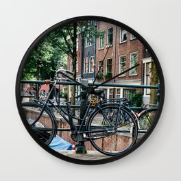 Bicycles in Amsterdam Wall Clock
