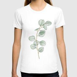 Transparent Watercolor Eucalyptus  T-shirt