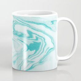 Aimi - spilled ink abstract water wave tropical vacation india ink aqua gender neutral painting boho Coffee Mug