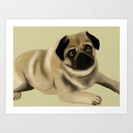 Doug the Pug Art Print