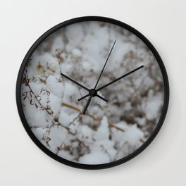 Winter's Soft Side Wall Clock