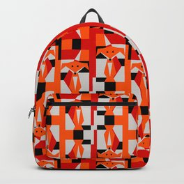 Geometric Dancing Foxes Backpack