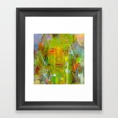 Senza una donna Framed Art Print