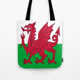 Flag of Wales,uk,great britain,dragon,cymru, welsh,celtic,cymry,cardiff,new port Tote Bag