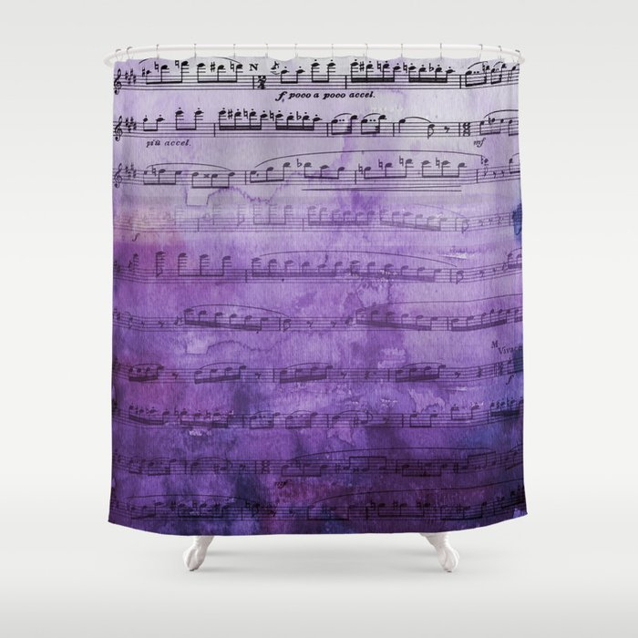 Soft Purple Music Shower Curtain by colorandform | Society6
