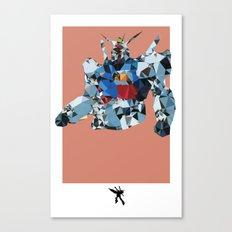 Gundam Polygon Mesh Canvas Print