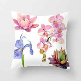 Flora and Fauna Pattern Throw Pillow