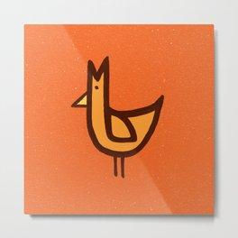 Chicken Print Metal Print