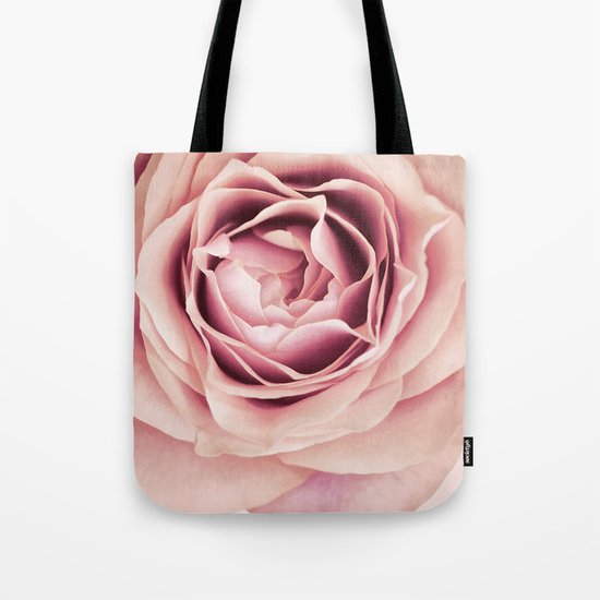 My Heart is Safe with You, My Friend - pale pink rose macro Tote Bag