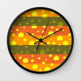 Golden autumn leaves Wall Clock