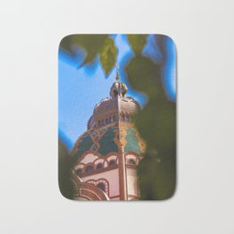 Art deco synagogue tower in Subotica, Serbia Bath Mat