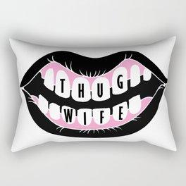 """""""Thug Wife"""" Rectangular Pillow"""