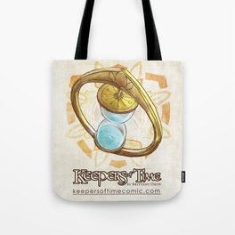 Keepers of Time Comic Hourglass Logo Tote Bag