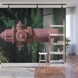 Fluted Waterous W59 Fire Hydrant Front Fire Plug  Wall Mural