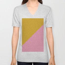 Ogre Yellow & Pink - oblique Unisex V-Neck