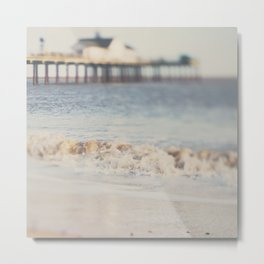 the waves running up against your feet ... Metal Print