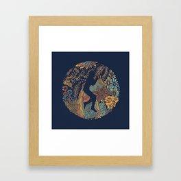 b e Framed Art Print
