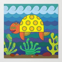 Stylize fantasy turtle under water Canvas Print