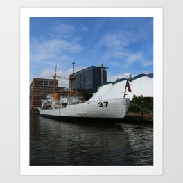Coast Guard Cutter Taney Baltimore Harbor Art Print