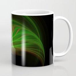 Gold Green Peacock Feather Coffee Mug