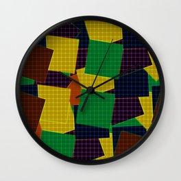 Beautiful patchwork geometric retro vintage grid Wall Clock