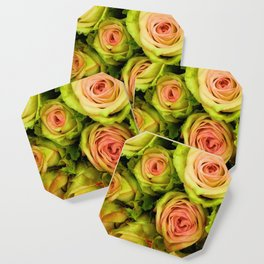 Green & Pink Bouquet Coaster