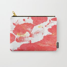 Coral red abstract Carry-All Pouch