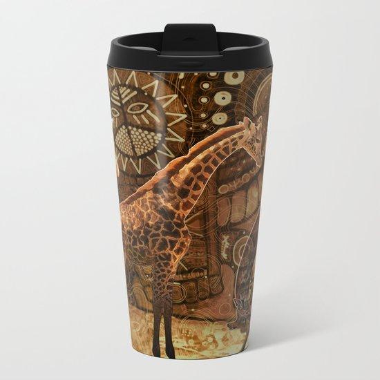 Three Giraffes Metal Travel Mug