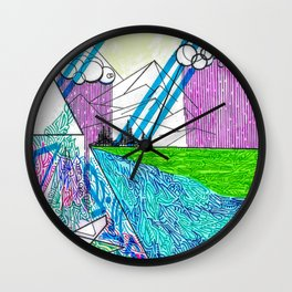 landscape of wonder Wall Clock