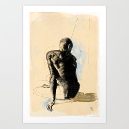 Life Study, Black Male Art Print