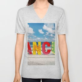 painting of Cancun Mexico  Unisex V-Neck