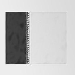 Greek Key 2 - White and Black Throw Blanket