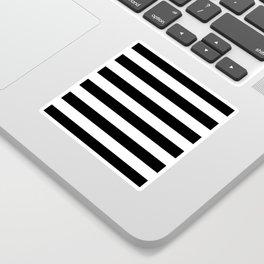 Stripe Black & White Horizontal Sticker