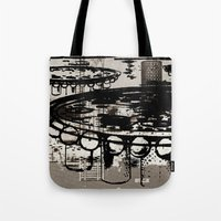 architect Tote Bags featuring Architect Invader by Paul Prinzip