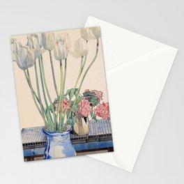 "Charles Rennie Mackintosh ""White tulips"" Stationery Cards"