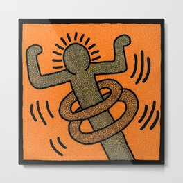 Keith Haring Hula Hooper Metal Print